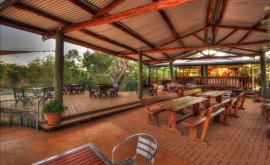 Cobbold Village Outdoor dining area