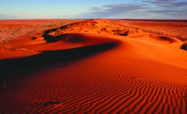 Big red sand dunes Birdsville
