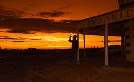 Birdsville Hotel at Sunset