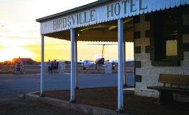 Birdsville Hotel Plane Sunset