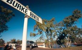 Signage for Bourke River Boulia