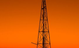 Windmill at Sunset in Boulia