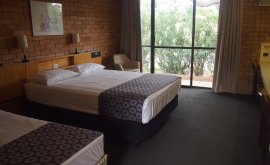 Bedroom at Jumbuck Motel