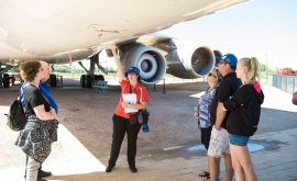 Staff talking during Jets Tour at QFM